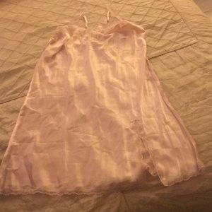 Victoria's Secret Light Pink Satin Slip Dress